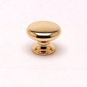 Berenson Valencia 7/8 Inch Knob in Polished Gold