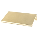 Contemporary Advantage Two - 56mm CC Champagne Edge Pull - Part measures 1/16in. thickness.