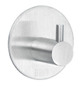 Beslagsboden Design Steel Single Circular Hook - Brushed Stainless Steel