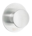 Beslagsboden Design Steel Single Round Self-Adhesive Hook - Brushed Stainless Steel