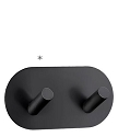 Beslagsboden Design Self-Adhesive Double Hook - Flat Black