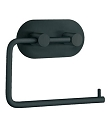 Beslagsboden Design Steel Round Base Toilet Roll Holder - Matte Black Stainless Steel