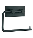 Beslagsboden Design Steel Square Base Toilet Roll Holder - Matte Black Stainless Steel