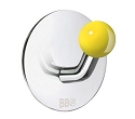 Beslagsboden Design Single Hook - Polished Stainless Steel / Yellow Knob