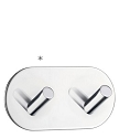 Beslagsboden Design Self-Adhesive Double Hook - Polished Stainless Steel