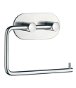 Beslagsboden Design Steel Round Base Toilet Roll Holder - Polished Stainless Steel