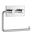 Beslagsboden Design Steel Square Base Toilet Roll Holder - Polished Stainless Steel