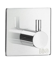 Beslagsboden Design Steel Single Self-Adhesive Square Hook - Polished Stainless Steel