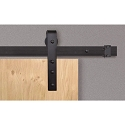 Beyerle Casa Single Barn Door Hardware Kit - Flat Black