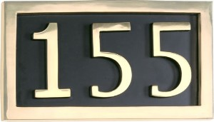 Brass Accents 3 Letter Solid Brass Address Plaque