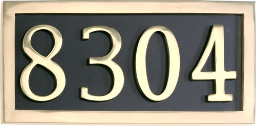 Brass Accents 4 Number Solid Brass Address Plaque