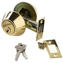 Brass Accents Double Cylinder Deadbolt - 2 Inch Backset