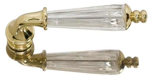 Brass Accents Kinsman Crystal Lever