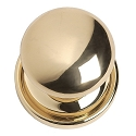 Brass Accents Passage Netropol Knob with 2 Inch Backset