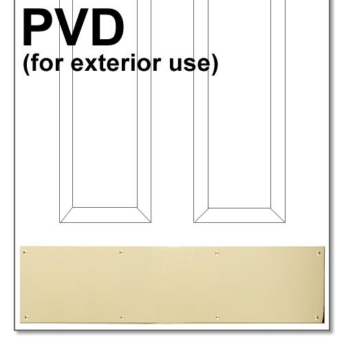 Pvd Kickplate Brass Accents Polished Brass Pvd Kickplate