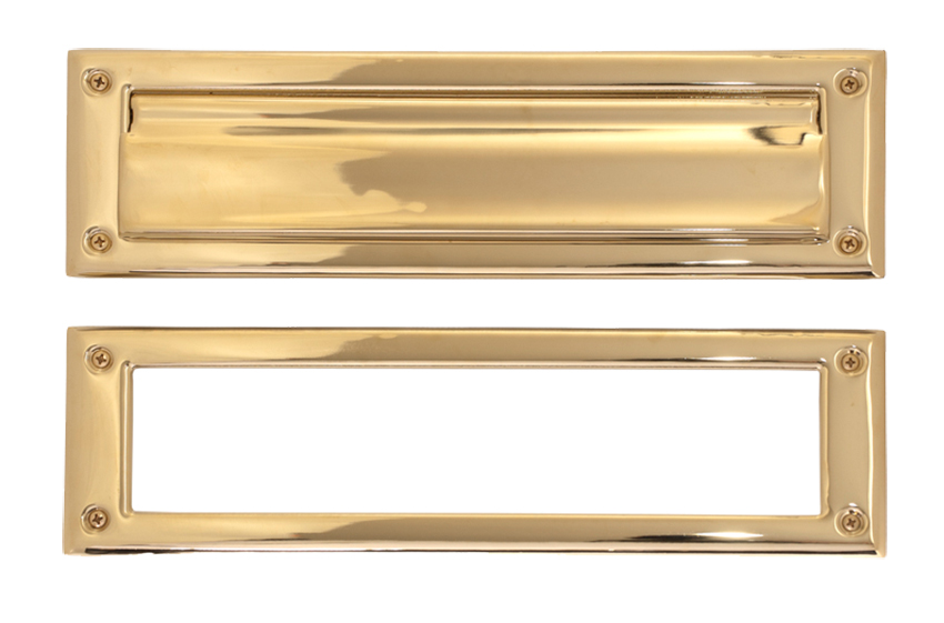 Brass Accents 3 Inch x 10 Inch Mail Slot with Frame