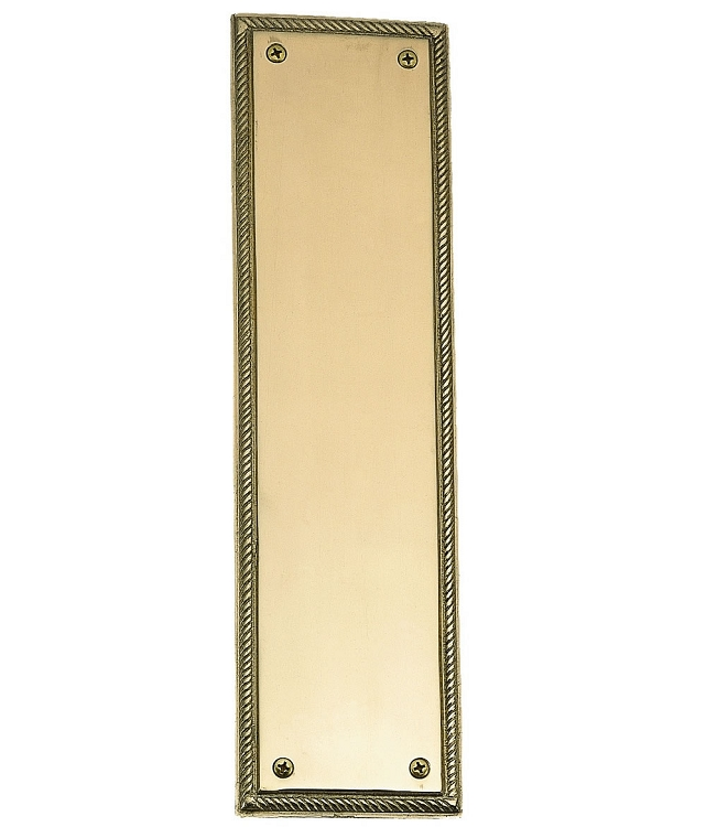 Brass Accents Rope Push or Pull Plate - 3 x 12 Inch