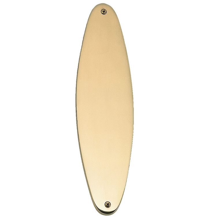 Brass Accents Oval Traditional Push or Pull Plate - 3 x 11 Inch