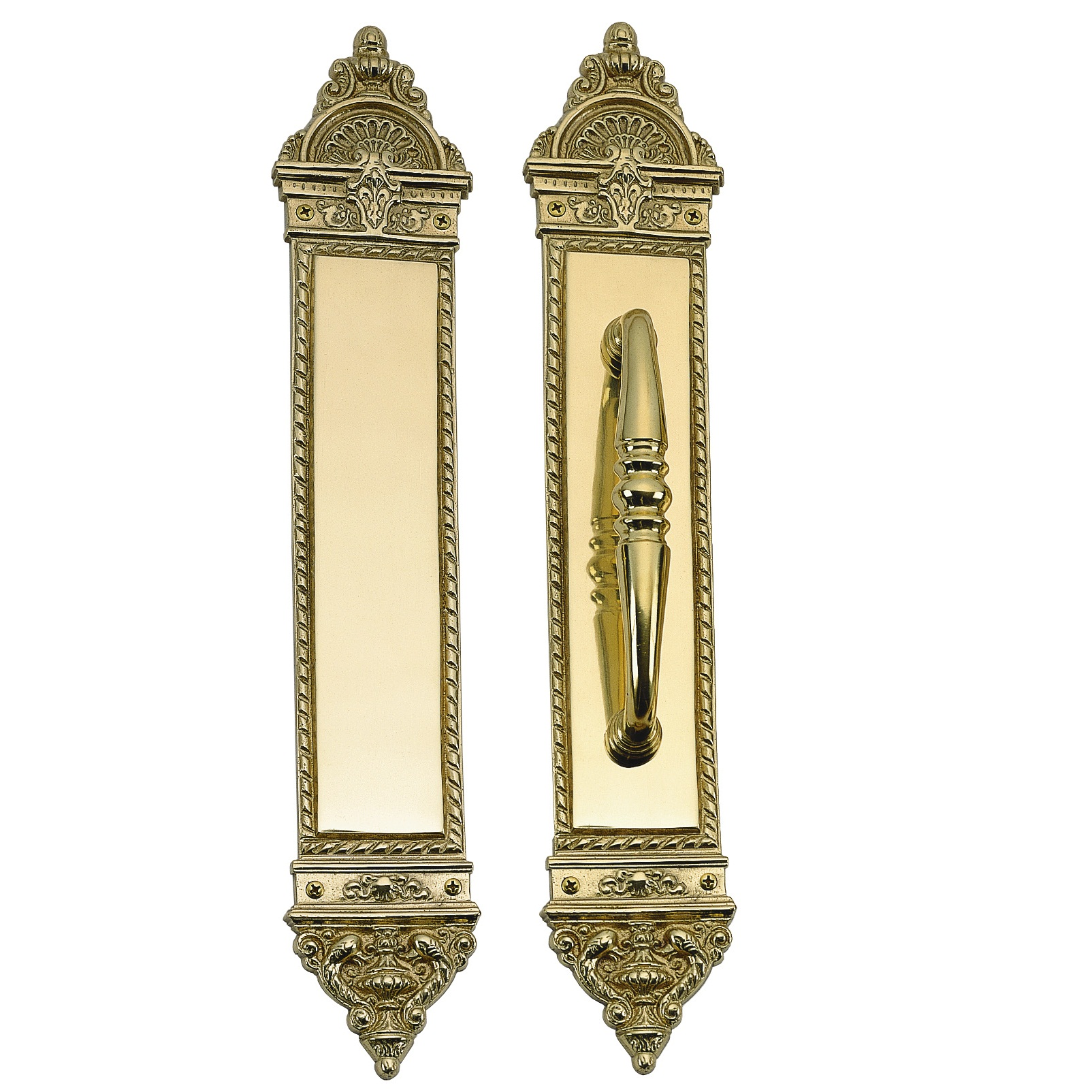 Brass Accents L'Enfant 16 1/4 Inch Push Plate - 3 x 16 1/4 Inch