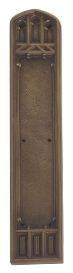 Brass Accents Oxford Push Plate 3 3/8 x 18 Inch