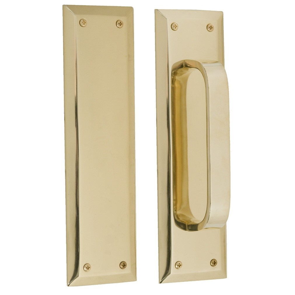Brass Accents Quaker Push Plate - 2 3/4 x 10 Inch