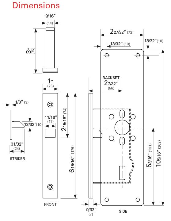 The Lavilock Indicator ADA Pocket Door Lock from CaviLock