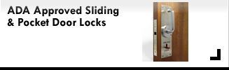 Cavity Sliders ADA Approved Sliding Door Locks