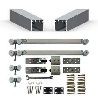 Cavity Sliders Soft Close Track Kit for DOUBLE Pocket Doors