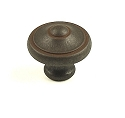 Century Country 1 3/16 Inch Cabinet Knob in Olde Iron Rust