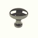 Century Elite 1 Inch Cabinet Knob in Black Nickel