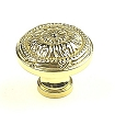 Century Georgian 1 1/4 Inch Cabinet Knob in Polished Brass