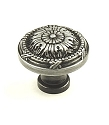 Century Georgian 1 1/4 Inch Cabinet Knob in Antique Pewter