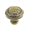 Century Georgian 1 1/4 Inch Cabinet Knob in Polished Antique