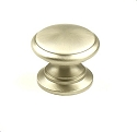 Century Hartford Solid Brass 1 1/4 Inch Cabinet Knob in Dull Satin Nickel