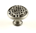 Century Highlander 1 3/8 Inch Cabinet Knob in Weathered Pewter