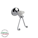 Century Rose Double Hook - Polished Chrome