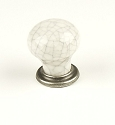 Cenutry Nordic 1 3/16 Inch Cabinet Knob in Antique Pewter & Grey Crackle