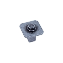 Century Raw Authentic 27MM Square Knob in Matte Old Iron
