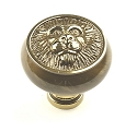 Century Roman 1 1/2 Inch Cabinet Knob in Polished Antique