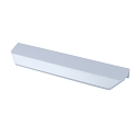 Century Soft Glam 128mm Modern Edge Pull in Satin Aluminum