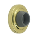 Deltana Solid Brass 2 1/2 Inch Diameter, Concave Flush Mounted Bumper