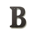 Deltana Solid Brass 4 Inch Residential Letter B