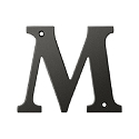 Deltana Solid Brass 4 Inch Residential Letter M