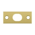 Deltana Solid Brass Strike Plate for Extension Flush Bolt