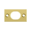 Deltana Solid Brass Strike Plate for 6 Inch Flush Bolt