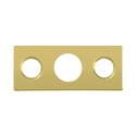 Deltana Solid Brass Strike Plate for 7 Inch Flush Bolt