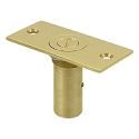 Deltana Solid Brass 2-7/8 x 1-3/8 Inch Adjustable Dust Proof Strike with Safety Lock