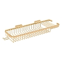 Deltana Solid Brass 17-3/4 Inch Deep & Shallow Rectangular Wire Basket with Hook