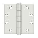Deltana 4 1/2 x 4 1/2 Inch Square Corner Heavy Duty Ball Bearing NRP Steel Hinge - Pair