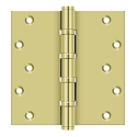 Deltana 6 x 6 Inch Solid Brass Square Corner Standard, Ball Bearing Hinge - Pair